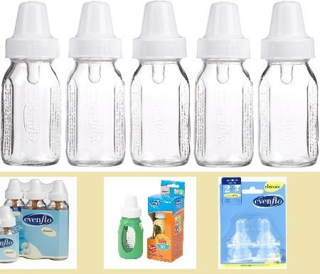 photo of Evenflo Glass Bottles