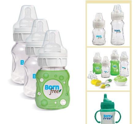 photo of glass baby bottles by bornfree