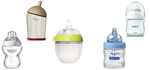 photo of bottles for breastfed babies