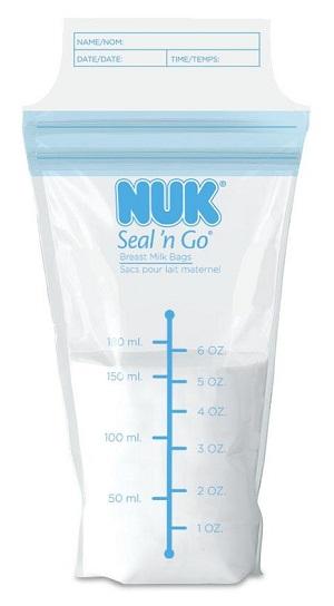 image of breast milk storage bags by NUK