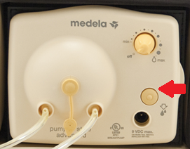 image of the front of Medela's breast pump