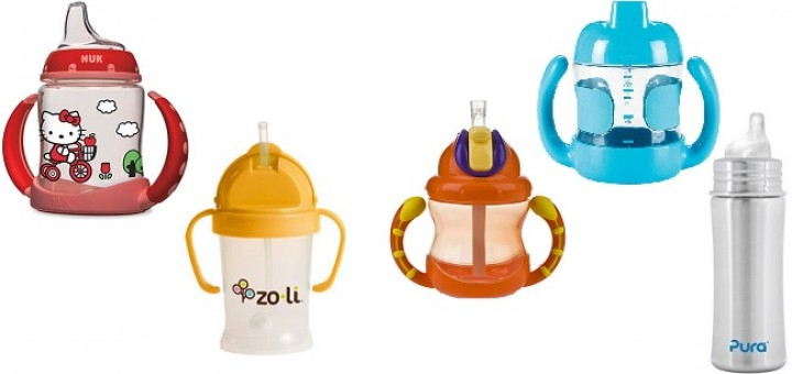 photo of 5 sippy cups