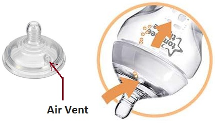 illustration of Tommee Tippee air venting mechanism