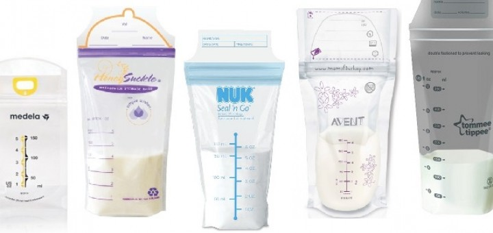 image of leading breast milk storage bags