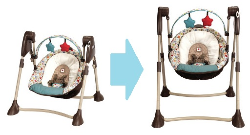 Graco 2-in-1 swing converting from travel to stationary