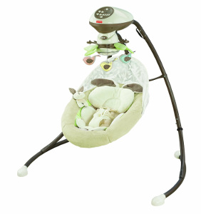 My Little Snugabug baby swing by Fisher-Price
