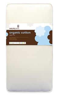 Innerspring crib mattress made with organic cotton by Naturepedic