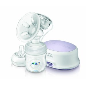 Single electric breast pump by Avent with silicone inserts