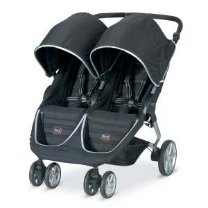 Double tandem stroller by Britax with fabric and double front wheels