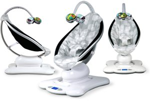 Mamaroo swing with overhead mobile